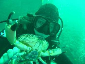 Crab Diving, Chile Food