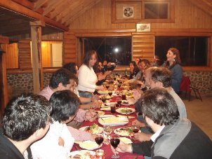 Family gathering, Chilean People