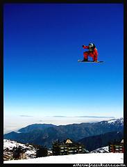 Skiing in Farrellones, skiing in Chile