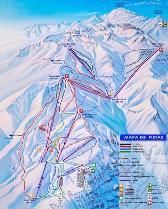 Mapa Valle Nevado, ski maps
