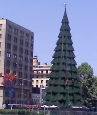 Arbol Navidad En Santiago, Navidad en Chile